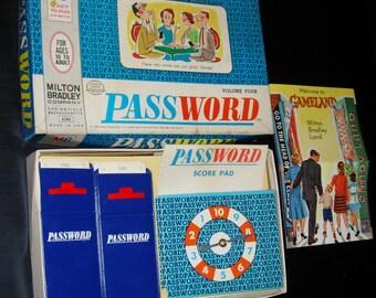 Password Game Vintage Password Home Game 1964
