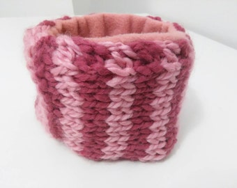 Child's Pink Stripey Neck Warmer
