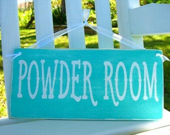 Powder Room Sign,Bathroom Art,Wooden Signs,Rustic Wall Decor,Ladies Room Sign,Restroom Wall Decor,Mothers Day Gift,Custom Wood Sign