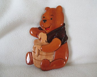 Vintage Winnie the Pooh Wooden Wall Plaque