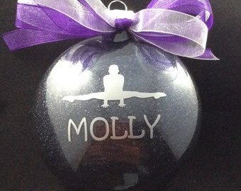 Personalized Gymnastics Disc Christmas Ornament
