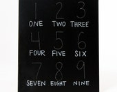 Number Trace and Erase Chalkboard