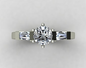 The classical conception ring from engagement.