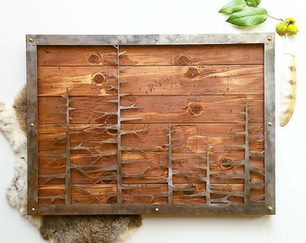 Alpine Tree Line Rustic Farmhouse Cabin Decor interior design