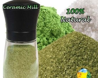 Matcha Green Tea Sea Salt Grinder 100 Grams (3.5oz)
