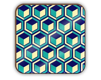 Blue Cubes coaster