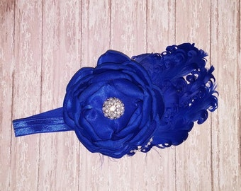 Royal Blue Headpiece