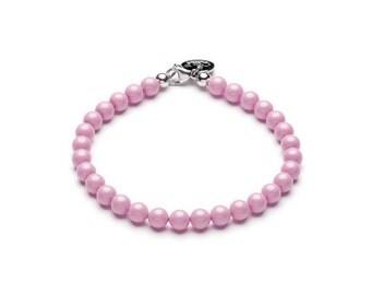 Swarovski ball bracelet • Pastel pink
