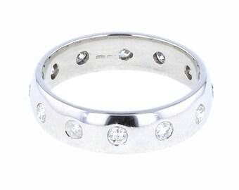 Diamond Set Platinum Court/Wedding Ring