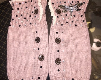 Butterfly leg warmers boot toppers