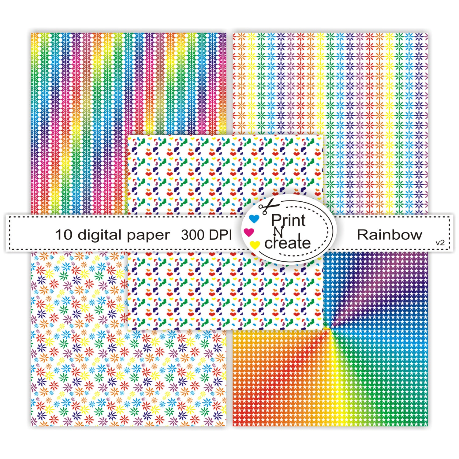 Scrapbook paper pads - This Is A Digital File