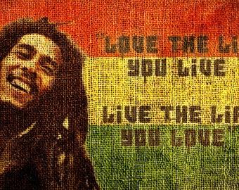 Bob Marley Large A1 Canvas