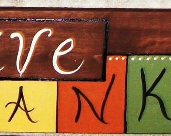 HANDPAINTED FALL THANKSGIVING sign