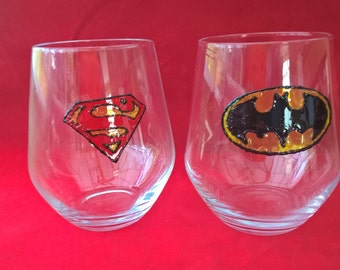 Batman & Superman tumblers