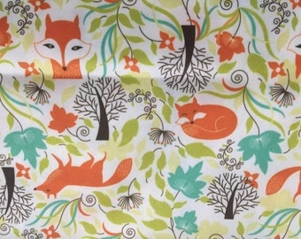 Fanciful foxes cloth diaper one size envelope pocket