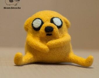 Jake the Dog toy - jake plush - adventure time gifts - adventure time plush , needle felted jake - adventure time toys