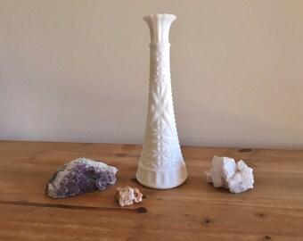 Milk Glass Vase - Vintage White Vase