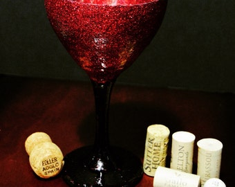 Bright shiny made to order wine glasses
