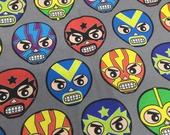 Lucha Masks 1/2 yd