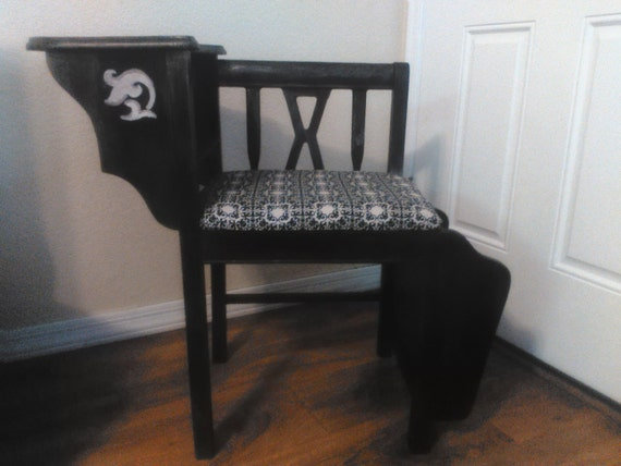 Vintage Gossip Chair Telephone Table