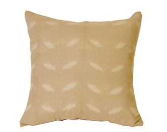 Decorative Pillow cover, Tan and White Throw Pillows, Decorative Pillows, Tan Pillows, Leaf Motif