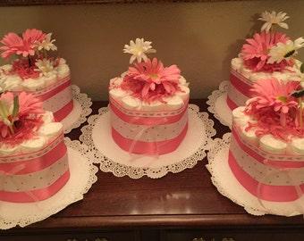 Diaper cakes set of 4