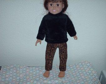Animal print leggings w/ furry top.