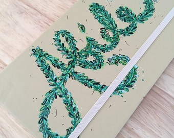 "Hand Painted Journal ""Abide"""