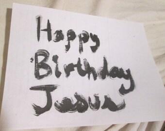 Postcard Happy Birthday Jesus