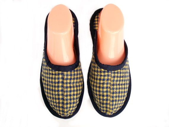 Yellow Wool Womens House Slippers Ladies Slippers Travel