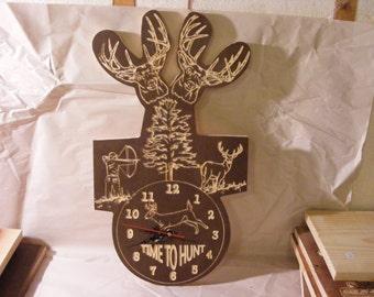 Wooden Deer Clock
