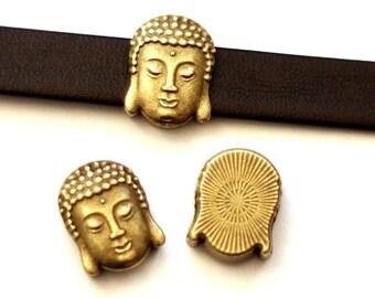 "5 ""Buddha"" sliding beads/Bronze colors"