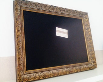 Kitchen chalkboard, chalkboard, magnetic Board, Board magnetically in the antique gold frame