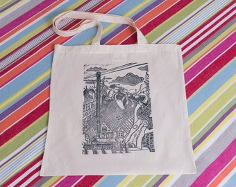CLEARANCE: Chimney Pots and Washing Lines Tote Bag