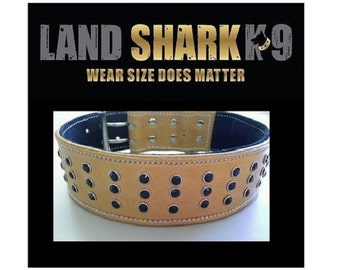 Blonde Leather Dog Collar with Black Suede Inner Lining & Black Crystals
