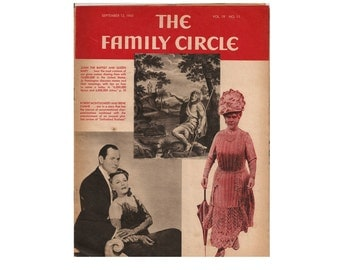 The Family Circle Magazine September 12, 1941 1940's Mid Century Vintage Magazines Vintage Newspapers Vintage Ads Collectible Magazine Ads