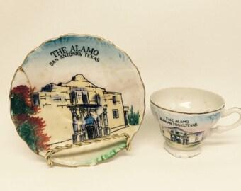 Vintage Mini Cup & Saucer - The Alamo