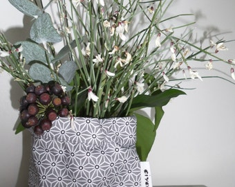 Scandinavian fabric geometric vase
