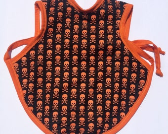 Skull and crossbones Bapron 6-18 Months