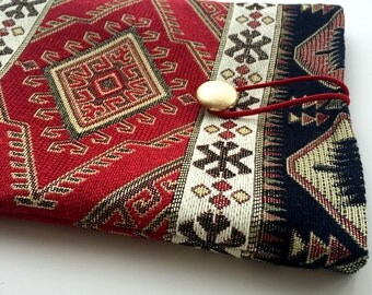 Ethnic Bohem Style Carpet Fabric Ipad Case,Ethnic Ipad Cover,Kilim Ipad Case, Fabric Ipad Case,boho Ipad case,book case,Gift For Her