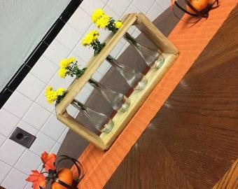 Wooden Flower vase, centerpiece
