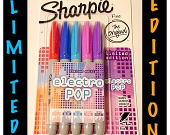 Sharpie Limited Edition Electro Pop 1919847 Fine Point Markers 5 Count.