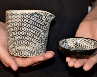 Sugar and creamer set - handmade ceramics