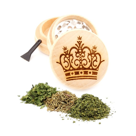 Crown Engraved Premium Natural Wooden Grinder Item # PW91316-36