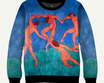 The Dance (La Danse) By Henri Matisse - Men's Women's Sweatshirt | Sweater - XS, S, M, L, XL, 2XL, 3XL, 4XL, 5XL