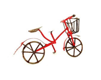 Fairy garden accessory, bicycle, fairy garden miniature, fairy size bicycle, red bicycle, fairy tools, fairy supplies