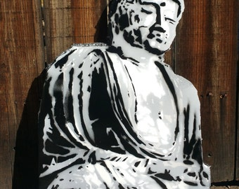 BUDDHA stencil foam board wall hanging