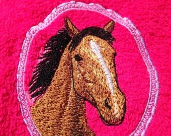 Personalised horse bath towel