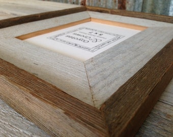 5x7 Picture Frame - Rustic Barnwood Picture Frame - Stacked Style 5x7 Frame - READY to SHIP - Tabletop 5x7 Photo Frame - Made in Texas USA