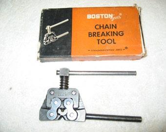 Vintage 1950's Boston Gear Chain Breaking Tool! #BV